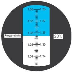 Refraktometr indexu lomu 1.435-1.520 - 1 kus