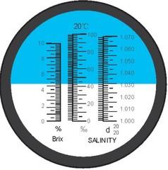 Refraktometr obsahu Chlorid sodný 0 až 100% - 1 kus