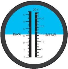 Refraktometr obsahu Chlorid sodný 0 až 28% - 1 kus