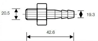 Kovová hadicová spojka