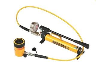 Hydraulické pumpy s válcem a manometrem