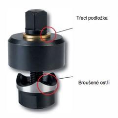 Kruhové děrovače plechu tloušťky 2 mm
