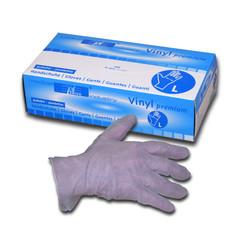 Bílé rukavice nepudrované VINYL
